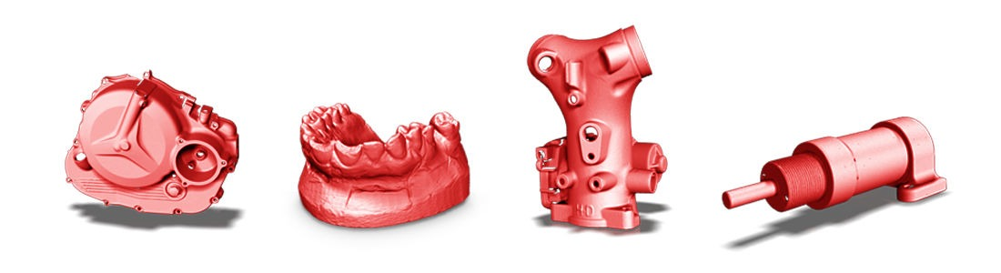 Przykłady skanów 3D uzyskanych skanerem 3D HDI Advance